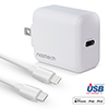18W PD Fast Wall Charger + USB-C to Lightning Cable