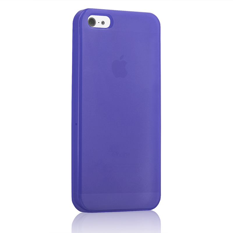 iphone or galaxy tpu cover for apple iphone 5 5s transparent purple 12103