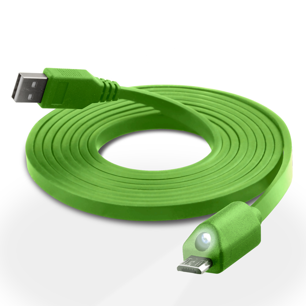 iphone usb drive naztech led micro usb charge amp sync cable green 12424