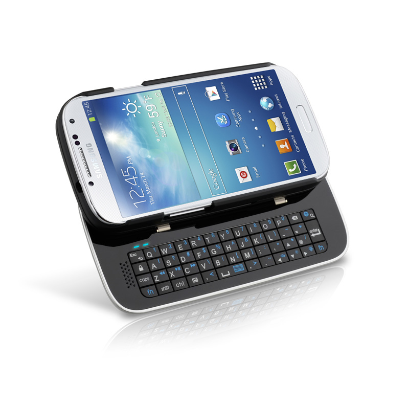 Sliding Bluetooth Keyboard Case for Samsung Galaxy S4 - Black