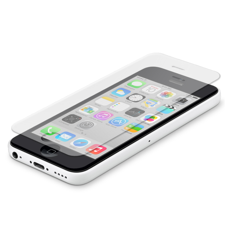 new styles 8f1a8 de1a8 Naztech Premium Tempered Glass Screen Protector for iPhone 5c