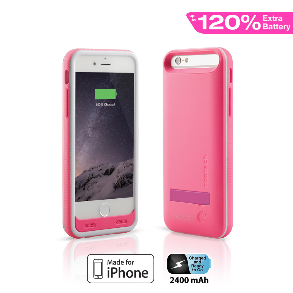 pink iphone 6 naztech mfi power with kickstand for iphone 6 pink 12777