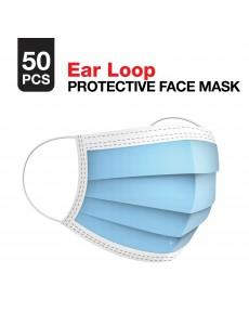 3-Ply Ear Loop Face Mask - 50 Masks